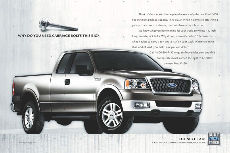 Taptite Ford F150 advertisement